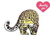 Amur Leopard Enamel Pin (leopard pin hard enamel pin lapel pin badge jewelry cute cat jewelry cloisonne backpack pins endangered big cat)