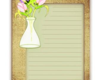 Burlap & Tulips Journal Cards