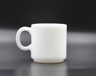 Milk Glass Mug, Vintage Milk Glass Mug, Retro Mug, Mid Century Mug