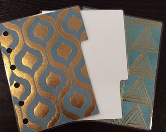 Filofax Pocket Sized Kikki K Small Planner Dividers. Set of 3