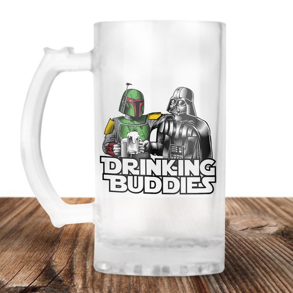 Darth Vader and Boba Fett Beer Stein- Star Wars Mug - Star Wars Drinking Buddies - Beer Mug - Beer Lover Gift- Perfect Gift for Beer Drinker