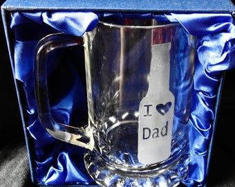 Dad Tankard Glass Great for Birthday ,Fathers Day or Christmas