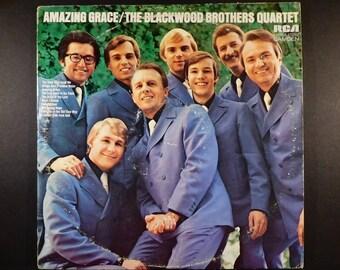 "Vintage Gospel Vinyl ""Blackwood Brothers Quartet Amazing Grace"" / Southern Gospel / Religious Music / Bridge Over Troubled Water / 1971"