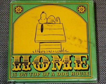 Charles M. Schulz Home Is On Top Of A Dog House Hardback Book 1966