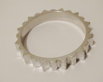 RARE Glen Yank NEW YORK Geometric Bangle Bracelet.