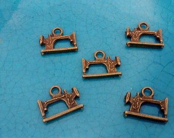 10 sewing machine bronze plated charms pendants DIY bracelets earrings necklaces jewellery making charms