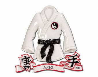 Personalized Martial Arts Sports Christmas Ornament