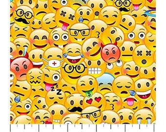 Emoji fabric etsy studio for Emoji material by the yard
