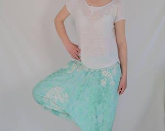 Harem Pant EXTRA LONG LENGTH turquoise