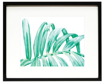 PALM FROND - Original Watercolor Painting Art Print