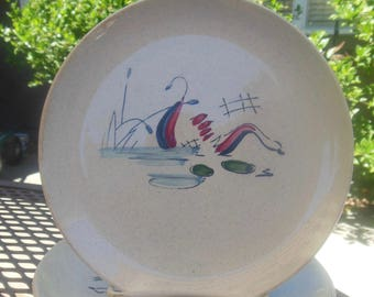 Riviera Faienceries Lily Pond French Salad Plates
