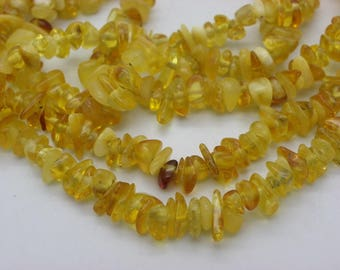 50 natural amber schips from 3 to 4 mm 5 mm orange