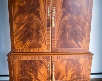 Sale!!! Vintage scandinavian swedish modern high credenza cabinet