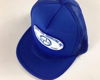 Baytown Texas Snapback Hat Blue Cap Foam Front Captan Natural Gas Odorizing