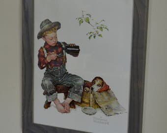 Framed Norman Rockwell Poster - Mysterious Malady