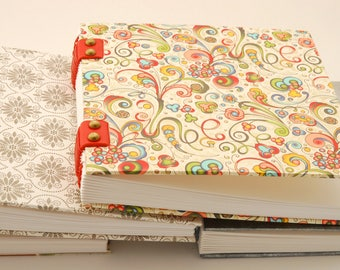 Book of square, big artist sketchbook or notebook travel, Coptic binding, 14cmX14cm, retirement gift