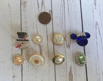 Set of 8 embellishments