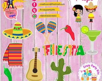 Props Mexico Lindo Kit #Imprimible (#Accesorios) #DIY PhotoBooth