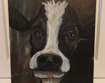 Acrylic Cow Painting