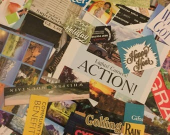 500 pcs l Collage, Journaling, Scapbooking Kit l Magazine Image and Words Clippings
