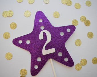 Starfish Cake Topper, Age Cake Topper, 1st Birthday Decor, Glitter Cake Topper, Under The Sea Party Decor, 1st Birthday Party, Smash Cake