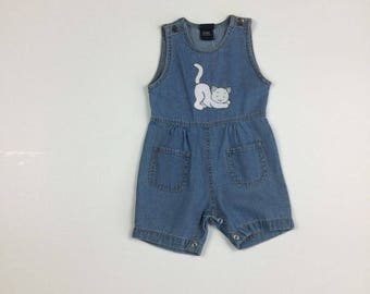 Denim Cat Romper