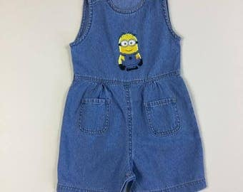 Minion Romper - Denim