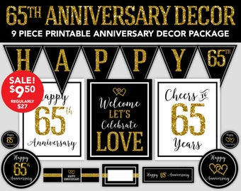 65th anniversary etsy for Decoration 65th anniversary