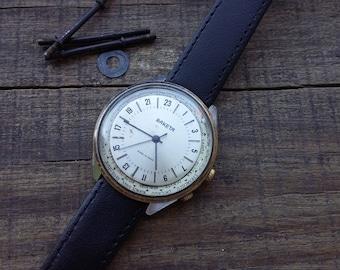 Rare Soviet Era Watch Raketa.Petrodvorets Watch Factory in Saint Petersburg.24-hour Watch Raketa - USSR 1990's, rare 24 hours watch Raketa!!
