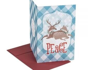 Peace - winter holidays card