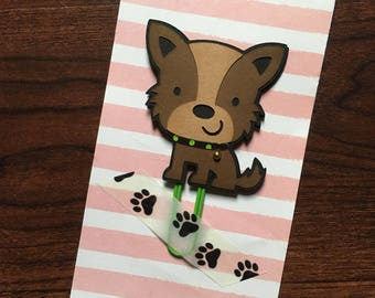 Dog Planner Clip, Puppy Dog, Bookmark, Plannerclips, Paper Clip, Paperwork Organizer