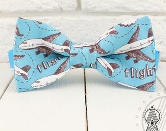 Planes Bow Tie, Blue bowtie, Aircrafts, Men's bow tie, Women's bow tie, Children's bow tie