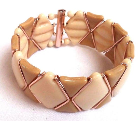 Vintage Glass Cuff Bracelet West Germany