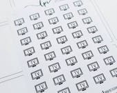 TV/ Movie/ show | Mini Icons | Planner stickers