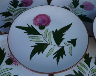 Set of Eight (8) Stangl Thistle Bread and Butter Plates