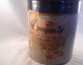 Daggett's Orangeade stoneware jug