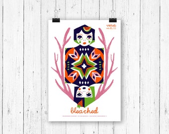 Screen print poster ladies - Bleached at Vera Groningen - gig poster 70 x 50 cm