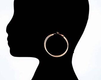 Brassy - Gold Statement Earrings