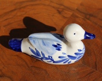 Handpainted Delft Blue Colour (DelftBluescolour) duck