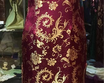 1990' authentic chinese short sleeves maxi dress. Size S.