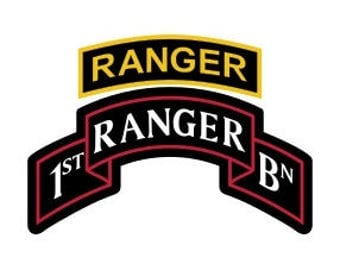 US Army 1st Ranger Battalion Patch with Ranger Tab Vector Files, dxf eps svg ai crv