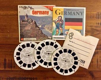 1970's Viewmaster Reels of Germany/ 3 Reels Plus Book / GAF