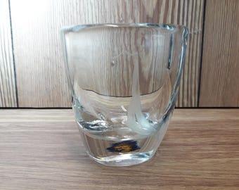 Orrefors vintage, signed/numbered vase designed by Sven Palmqvist, Sweden.
