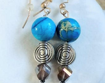 Earthtone Swirl Earrings