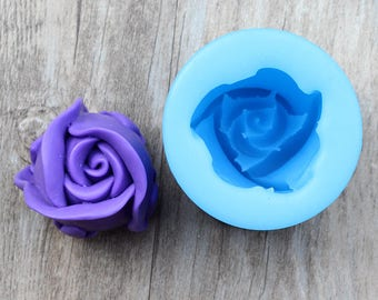 3D Diy SOAP SILICONE MOLD Rose Bud Mould Fondant Candle Chocolate Sugarcraft Home Business Market Clay Pottery Resin Casting