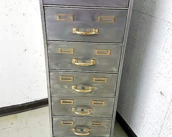 Fabulous Polished Steel Filing Cabinet