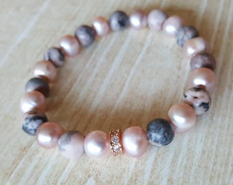 Pink Wife Gift Pink Bead Bracelet
