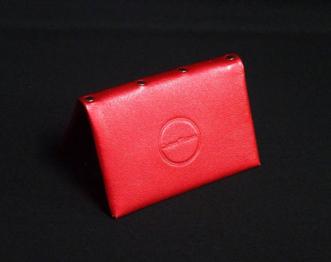 Bantam6 Wallet with Zip - Candy Red - Kangaroo leather with RFID credit card blocking - Handmade - James Watson