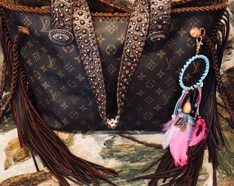 Authentic Louis Vuitton Neverfull MM Fringed