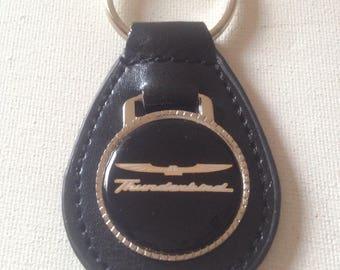 Ford Thunderbird Keychain Leather Ford Key Chain